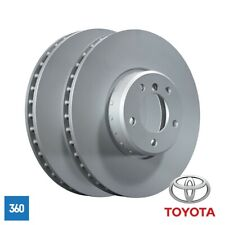 NEW GENUINE TOYOTA AURIS AVENSIS HYBRID VERSO FRONT BRAKE DISC PAIR 43512YZZAD