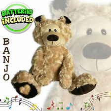 BANJO the Personalised Singing Teddy Bear - I sing YOUR CHILD'S NAME! $59.95
