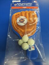 New York Mets MLB Pro Baseball Glove Sports Party Favor Toy Paddle Ball Games