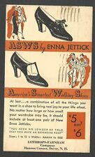 1934 P C DOVER NH ENNA JETTICKS SHOES AT LOTHROPS WALKING SHOES $5-$6