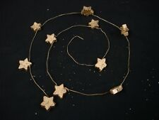 3x Wooden Gold Star Wire Garlands Christmas Xmas Wedding Tree Decoration