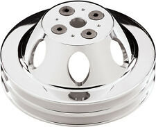 BILLET SPECIALTIES BBC POLISHED WATER PUMP PULLEY,SHORT,2 V-BELT GROOVES,CHEVY