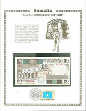 Somalia 20 Shilin Banknote WORLD CURRENCY COLLECTION Paper Money UNC Stamp MINT