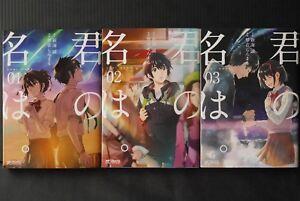 JAPAN manga LOT: Your Name / Kimi no Na wa vol.1~3 Complete Set