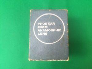Vintage Proskar 16mm Anamorphic Lens Type 16 Serial no 706338 Lens Covers in Box