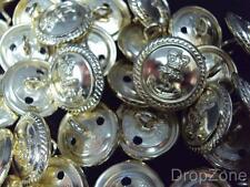 NEW 100 x British Royal Navy QC Anodised Buttons, Small 19mm
