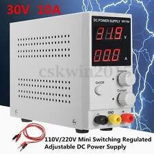 30V 10A Adjustable Switching Regulated DC Power Supply LCD Dual Digital Display