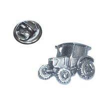 English Pewter Vintage Farm Tractor Pin Badge. Tie Pin Lapel Hat badge XDHLP1172
