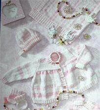"Knitting Pattern Babies EASY KNIT 12"" to 22"" Prem Baby  Dolls Set   - F37"