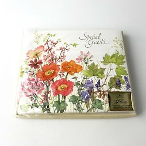 Vintage MCM Special Guests Hallmark Floral Guest Album Any Occasion