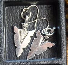 925 sterling silver earrings pewter Arrowhead pendants charm tribal theme