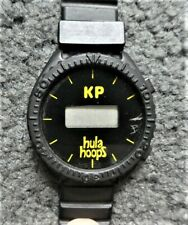 KP Hula Hoops Promotional Black Rubber LCD Watch - NOT WORKING, GIMMICKY ONLY