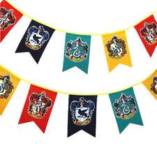 Harry Potter Slytherin Ravenclaw Hogwarts Gryffindor Flag Banner Bunting Hanging