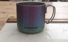 More details for rare & collectable starbucks oil slick tin mug 2016, rare starbucks mug