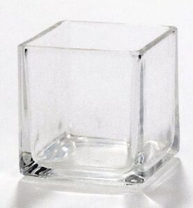 Square Glass Wedding Event Bling Annivesary Tealight candle holder many availble