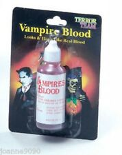 HORROR FAKE BOTTLE OF RED BLOOD VAMPIRE HALLOWEEN FANCY DRESS COSTUME ACCESSORY