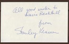 Stanley Kramer Signed Index Card Autographed It's a Mad, Mad, Mad, Mad, World