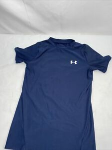 Under Armour compression gear athletic wear shirt youth L navy blue crewneck