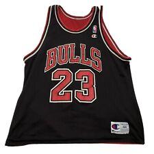 Champion Chicago Bulls Michael Jordan Reversible Jersey Sz 44 Last Dance