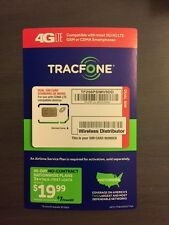 TRACFONE VERIZON WIRELESS DUAL CUT SIM CARD TRACFONE  MICRO AND MINI SIM CARD