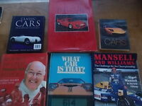 Collection Joblot 6 Various Car Books Classic Cars F1 Formula One Racing Mansell