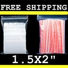 1.5x2%22+New+Clear+Zip+Bags+Bead+1Mil+Plastic+Top+Lock+Reclosable+Poly+Food+Zipper