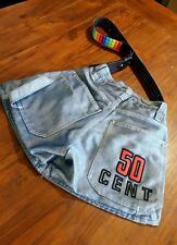 Wild & wild blue Denim bag with leather rainbow  strap preowned Free postage D4
