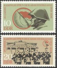 Germany (DDR) 1973 Workers Militia/Military/Soldiers/Army 2v set (n43663)