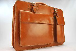Business- und Laptoptaschen Luxus Aktentasche Orange L