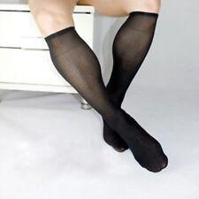 OTC stretchy ribbed nylon socks. BLACK.