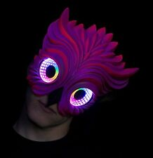 Owl UV LED Infinity Mirror Mask, led mask, burning man mask, rave mask