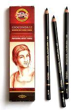 Art Pencils KOH-I-NOOR GIOCONDA Chalk Charcoal Sepia Negro WhiteCoal Graphite