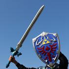 Legend of Zelda Link Hylian Master Skyward Sword and Shield Cosplay Prop Costume