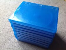 10 Empty Blu-Ray Genuine Amaray Case Blue & Used Spare Replacement Blu Ray Cases