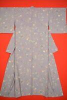 Vintage Japanese Silk Antique BORO KIMONO Kusakizome Dyde Textile/VQ68/600