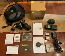 Nikon D D90 12.3MP DSLR Camera Kit w/ VR II 18-200mm Lens, flash, and extras