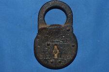 Miller sechs Hebel Stahl Pad Lock Vintage Original Miller Lock