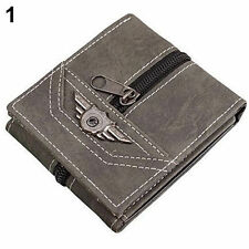 MEN'S NEWEST FAUX LEATHER ID CREDIT CARD HOLDER WALLET PUNK ZIPPER  {41}