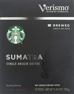 Starbucks Sumatra Brewed Coffee Verismo Pods (12 Count) EXP 11/2020