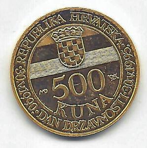 Croatia 500 Kuna 1995 Gold @Proof @