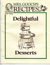 "1993 ""MRS GOOCH'S"" Grocery Store ""Delightful Desserts"" Recipe Giveaway [So. CA]"