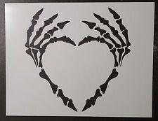 "Skeleton Hand Hands Heart 11"" x 8.5"" Custom Stencil FAST FREE SHIPPING"