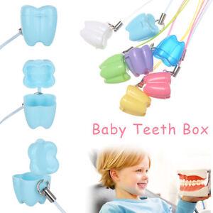 Plastic New Cute Dental Clinic Multicolor False Tooth Case Baby Teeth Box