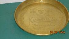 Vintage Brass Kessler Lorelei & Malt Extract Beer Tray Helena Montana