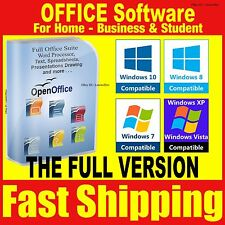 Open Office Software Suite 2016 Pro Compatible With Microsoft Windows 2013 2010