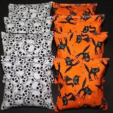 Halloween Cornhole Bean Bags 8 ACA Regulation Bags Skulls & Cats FUN PARTY GAME!