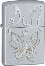Zippo Windproof Lighter With Golden Butterfly, 24339, New In Box