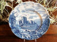 JOHNSON BROS England CASTLE STORY - Speiseteller Ø 25,5cm in blau