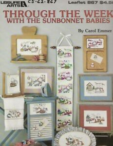 Through the Week with the Sunbonnet Babies Cross Stitch Leaflet - Leisure Arts