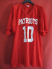 Maillot football Americain Majestic Rouge Vintage Patriots Made in USA - L